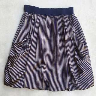 PLAINS & PRINTS striped bubble skirt