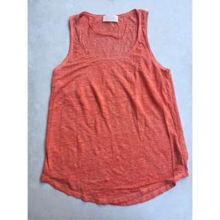 ZARA orange tank top