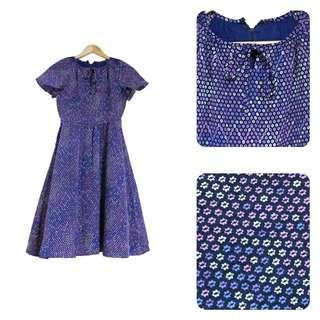 古著-紫色小花洋裝