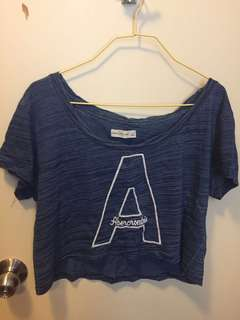 ✅95% NEW Abrecrombie & Fitch A&F Crop Top Size L