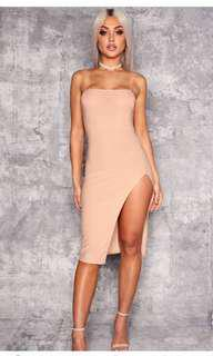 Nude Strapless Dress