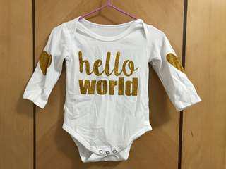 bling bling 金色文字心心嬰兒長袖夾衣 女