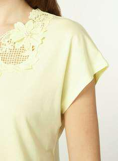 Dorothy Perkins Lemon Lace Shirt