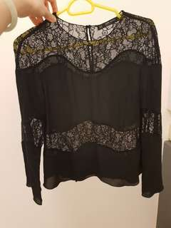 Zara black lace top