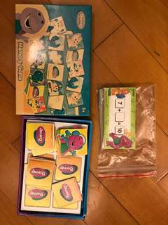 Barney memory game and Math card
