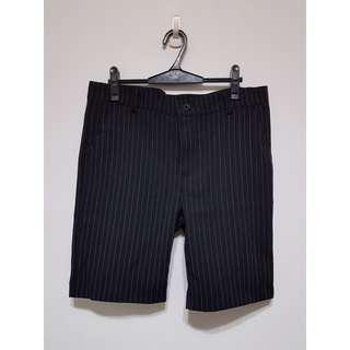 🚚 西裝面料條紋短褲