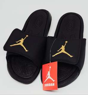 12c3ce9d7522 Jordan Slippers - Black Gold (OEM)