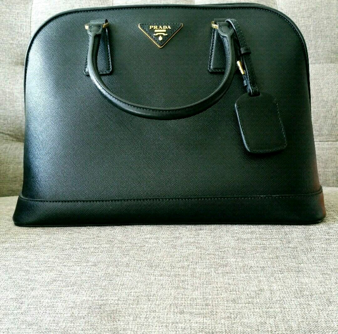 a40304adc6db86 Prada Saffiano Leather 2way Shoulder Bag Black BN2558, Women's ...