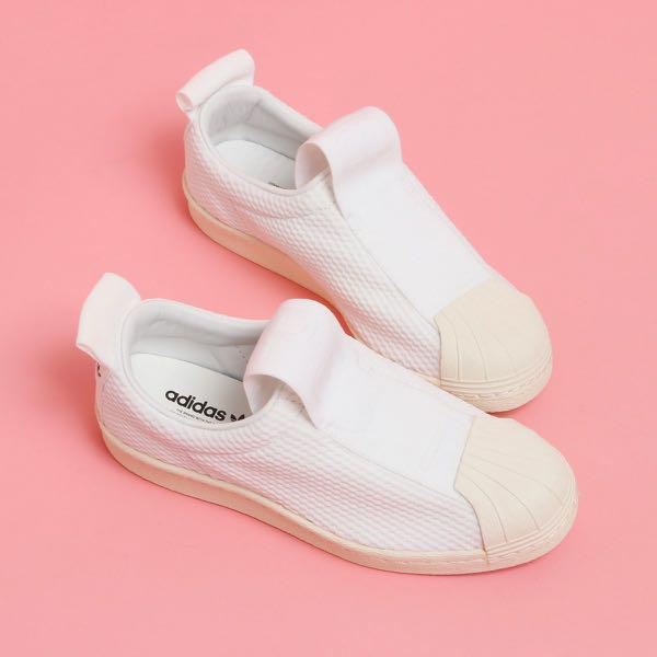 Adidas Superstar Slip On - Mesh White