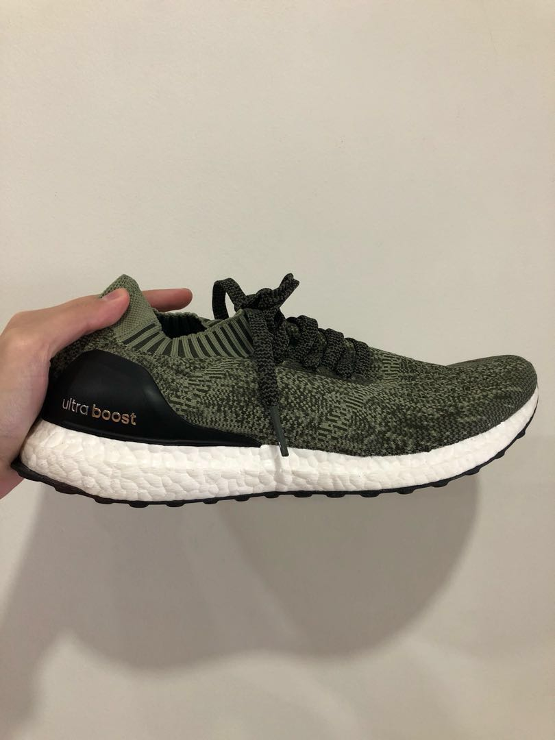 huge selection of 58741 c92e1 Adidas Ultraboost Uncaged Olive Green US 9, Mens Fashion, Fo