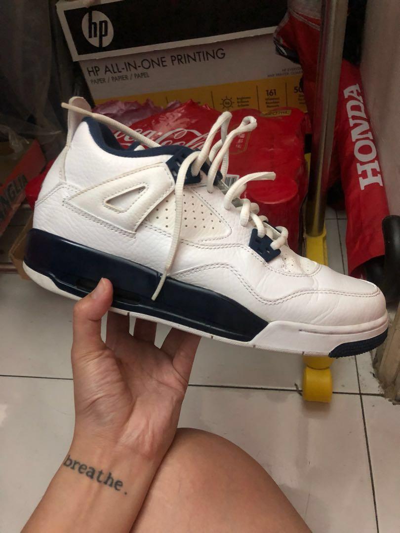 low priced d423c 192b1 Air Jordan 4 retro Ls Columbia /legend blue