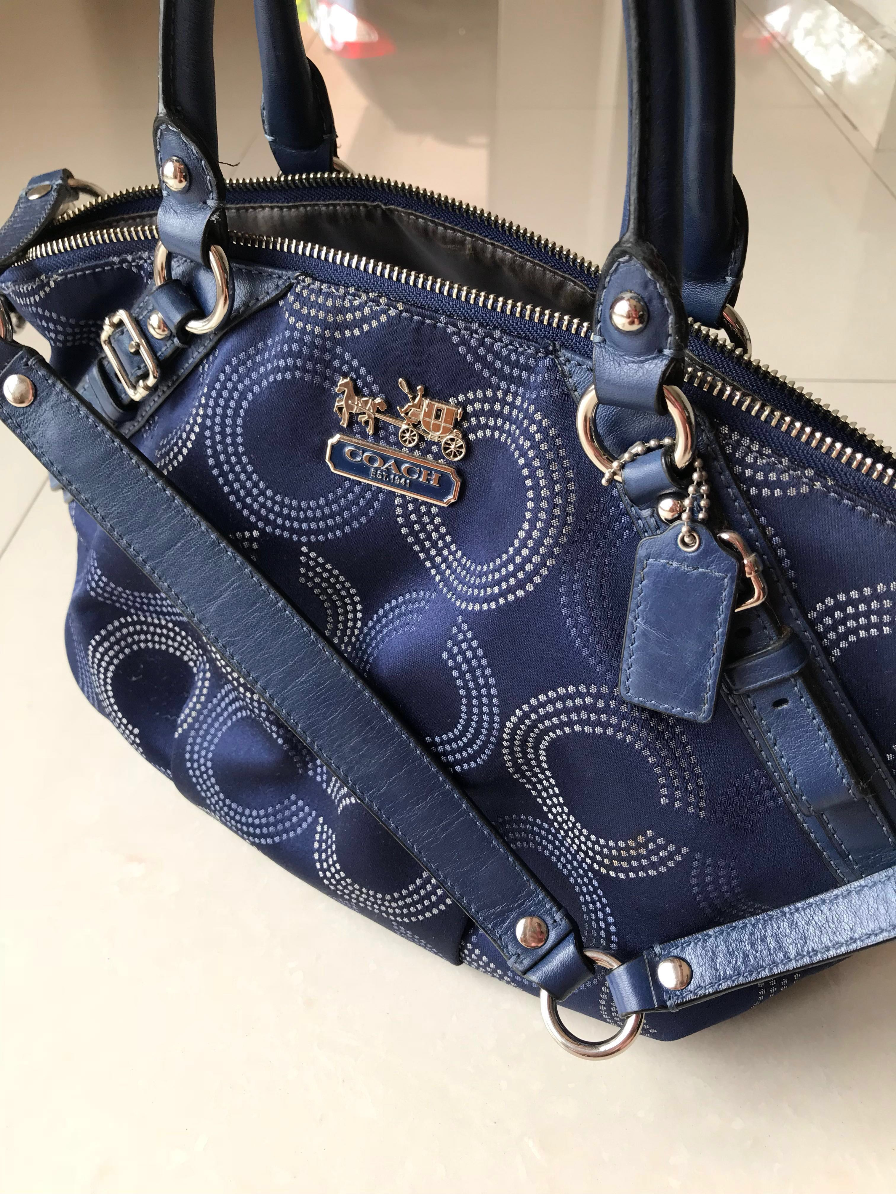 9d505c8d62 Authentic Coach Bag- Navy blue limited edition from USA