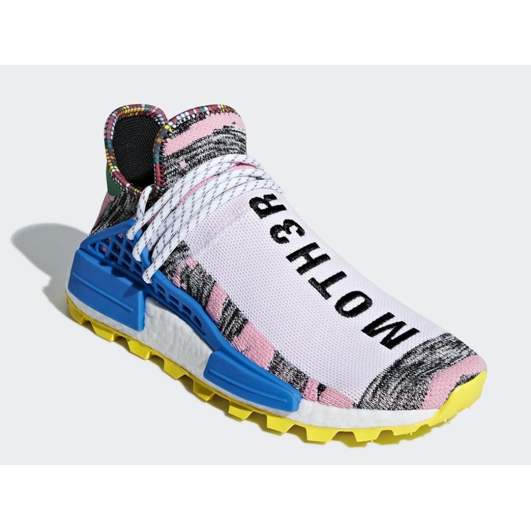"a587c8577f88b Authentic Pharrell x Adidas NMD Human Race Solar Pack ""MOTH3R ..."