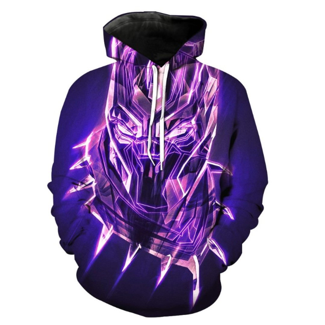 116cce96c8b4 BLACK PANTHER NEON - 3D HOODIE