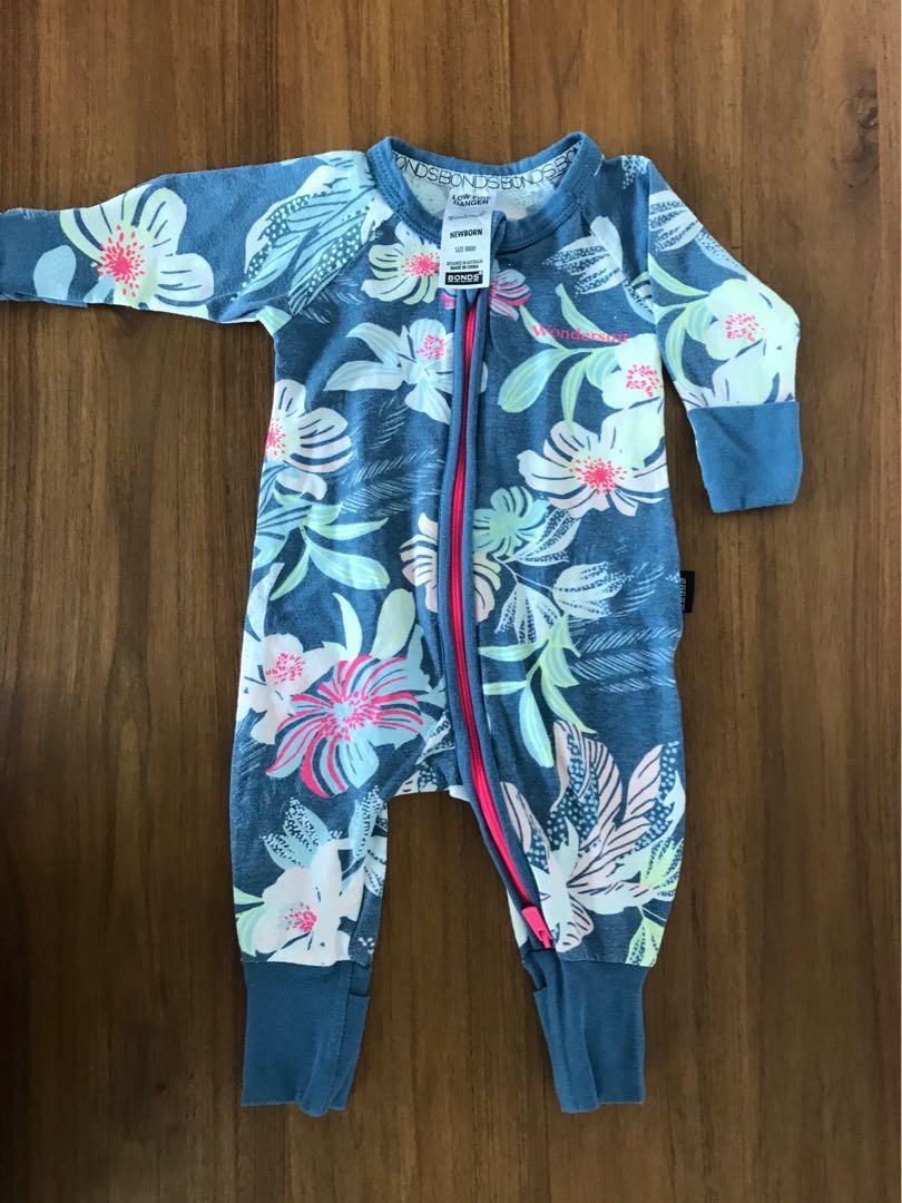 Baby & Toddler Clothing Size 0000 Newborn Zippy Wondersuit