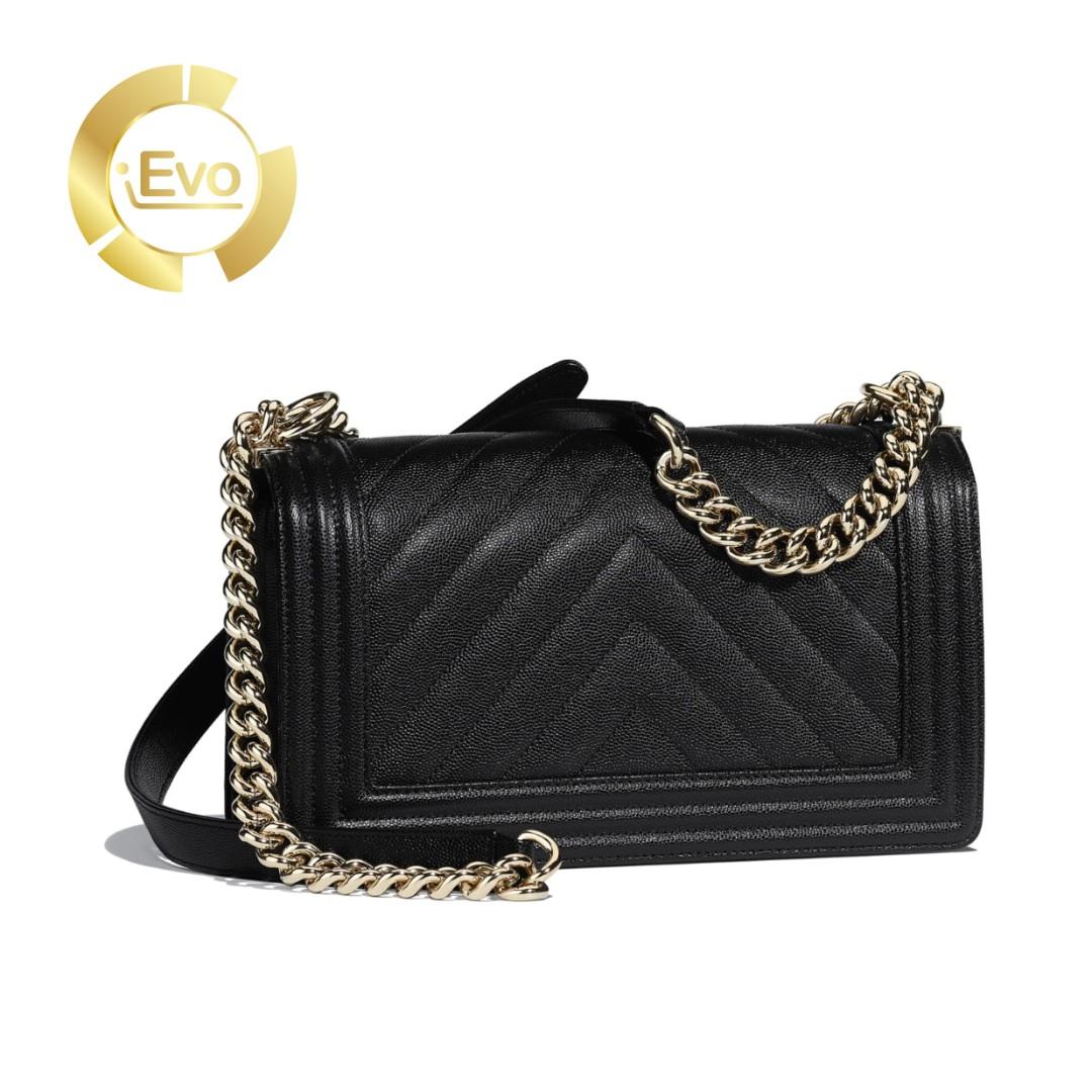 914494e23a1d7 INSTALMENT PLAN  BOY CHANEL Handbag Grained Calfskin   Gold-Tone ...