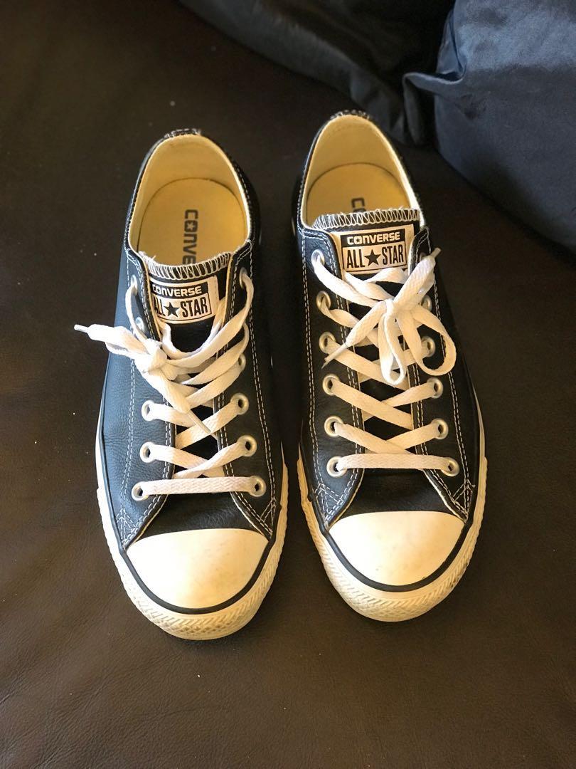 Converse All Star Shoe (Black Leather) 6cd346de5