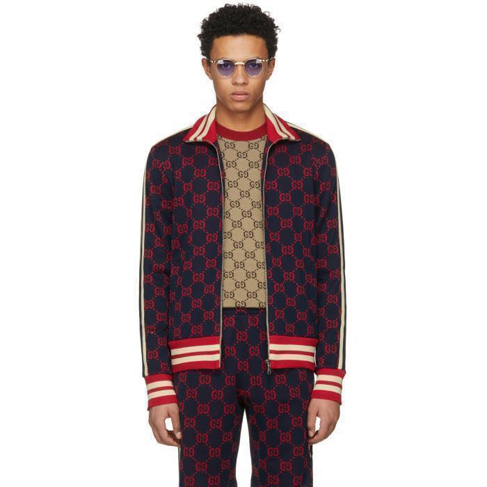 604a221d143836 Gucci jacquard track jacket, Men's Fashion, Clothes, Outerwear on Carousell