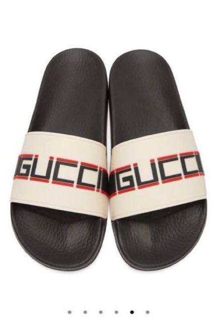 2479e641e2b Gucci off-white pursuit slides