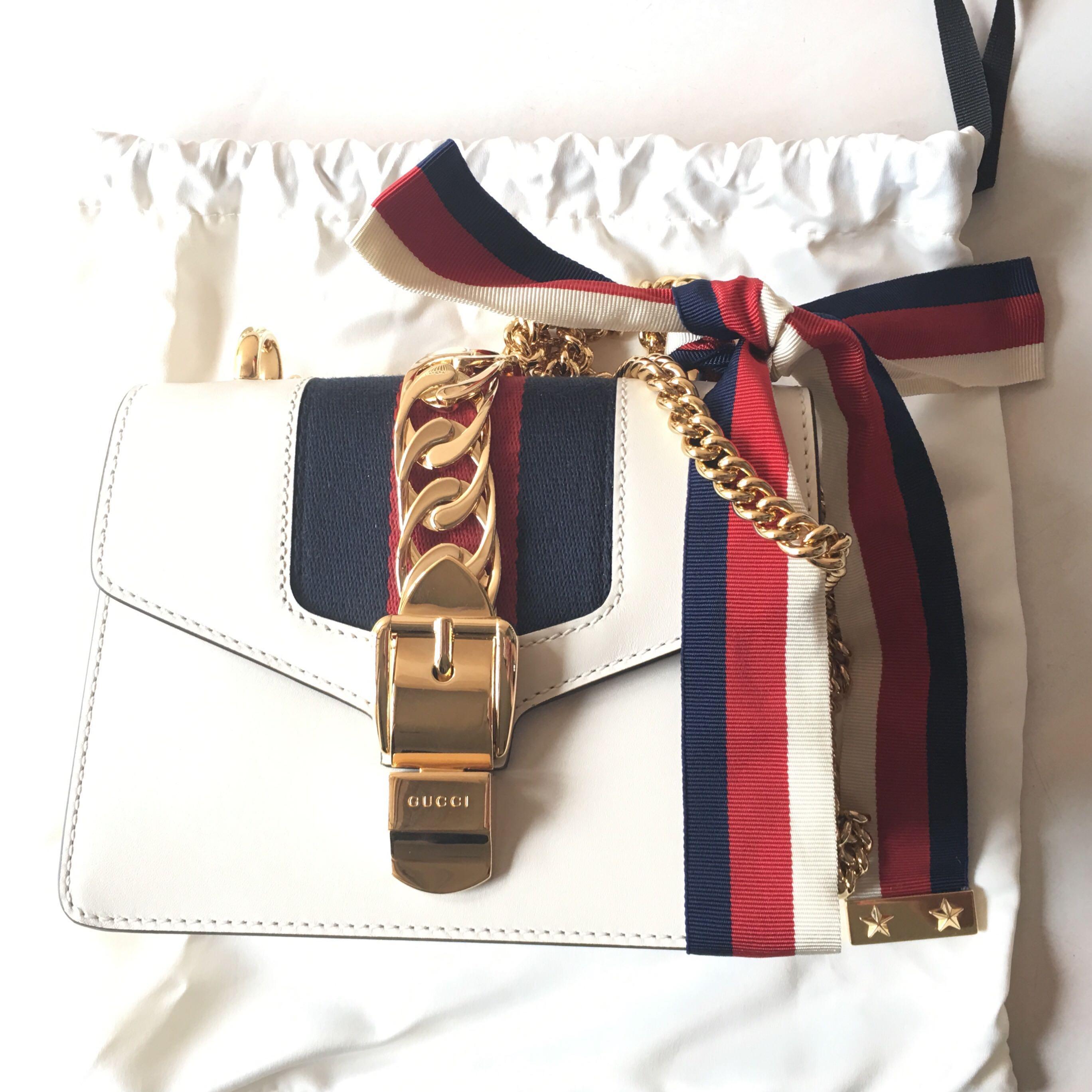 e7659b7e65 Gucci Sylvie Leather Mini Chain Bag, Women's Fashion, Bags & Wallets ...