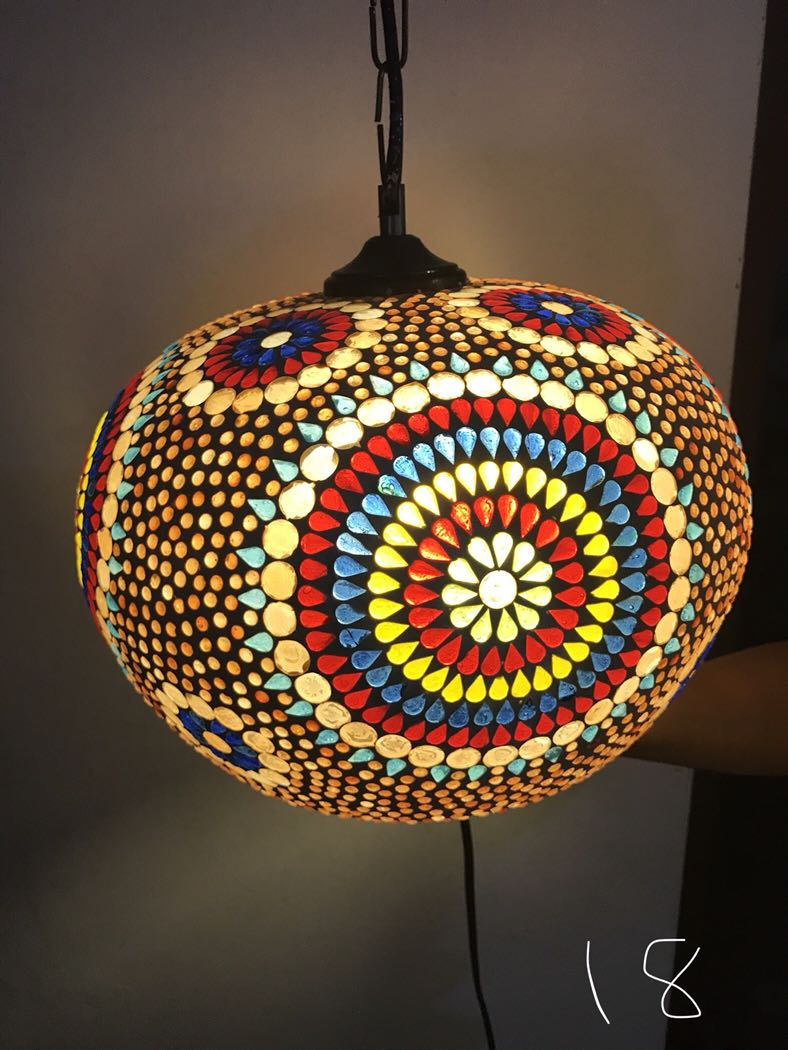 Handmade ceiling hanging turkish moroccan light 18