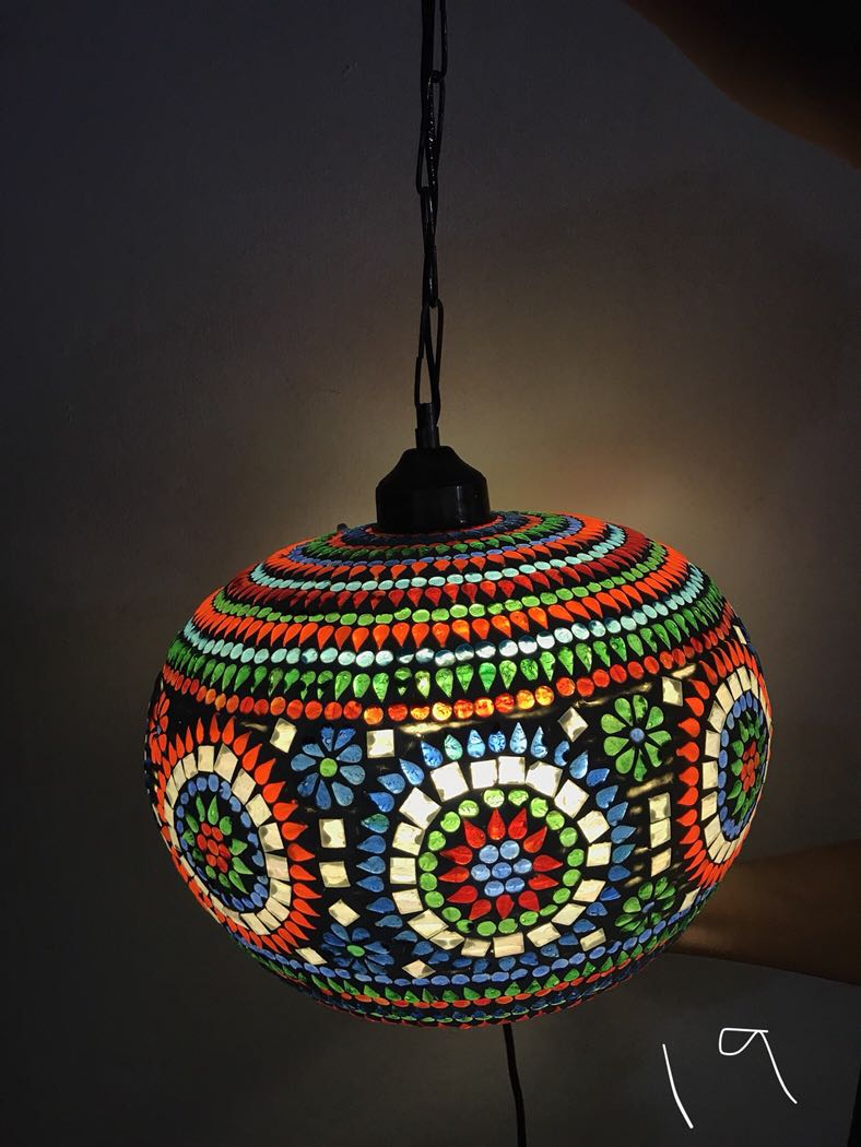 Handmade ceiling hanging turkish moroccan light 19