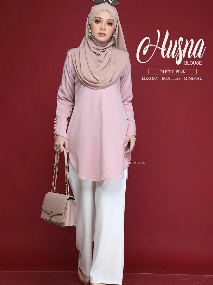 519094bf136b03 Husna Blouse (Pre-order), Women's Fashion, Muslimah Fashion on Carousell