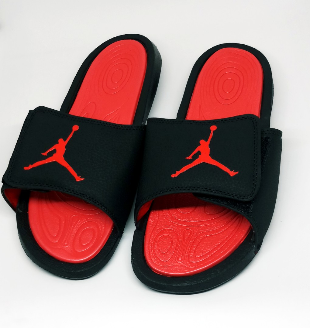 Jordan Slippers - Black Red ( OEM), Men