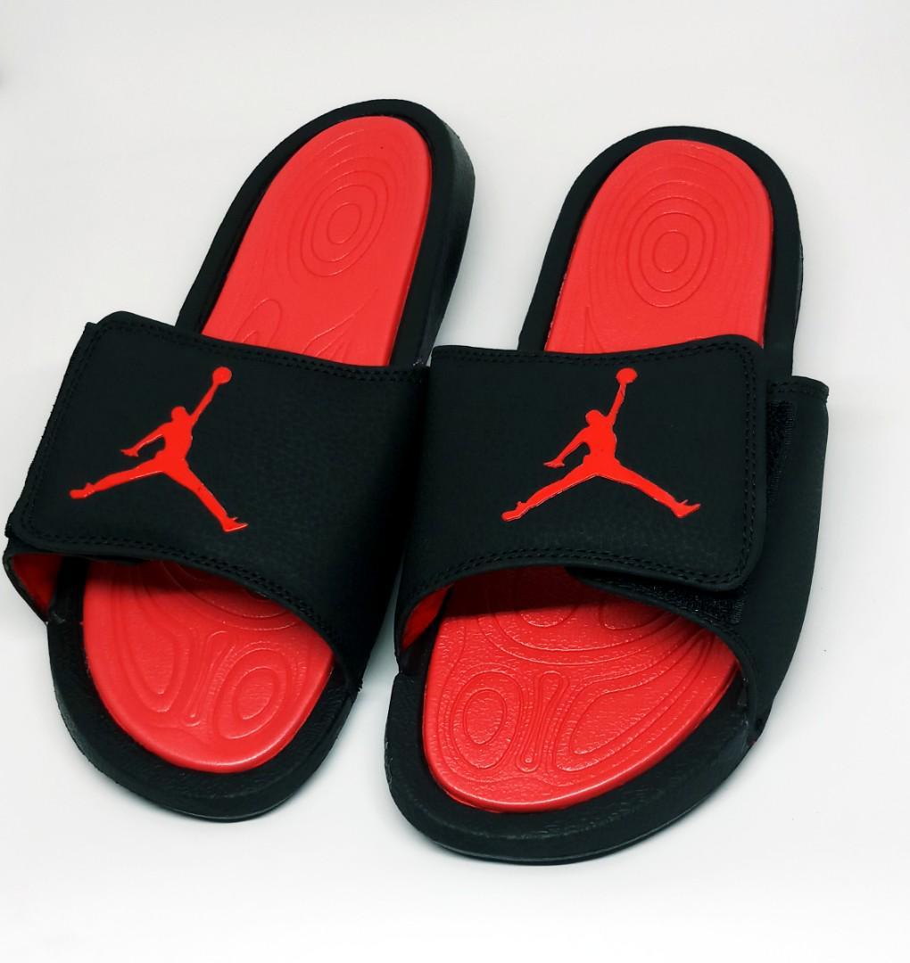 jordan slippers black