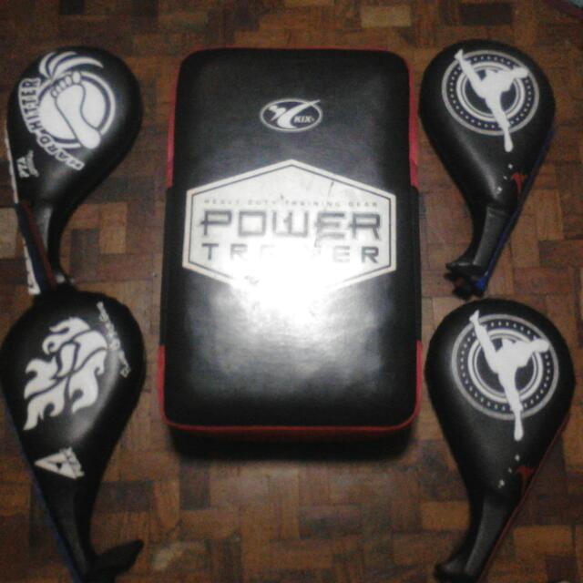 Kix And Power Trainer Taekwondo Equipment Kickpads And
