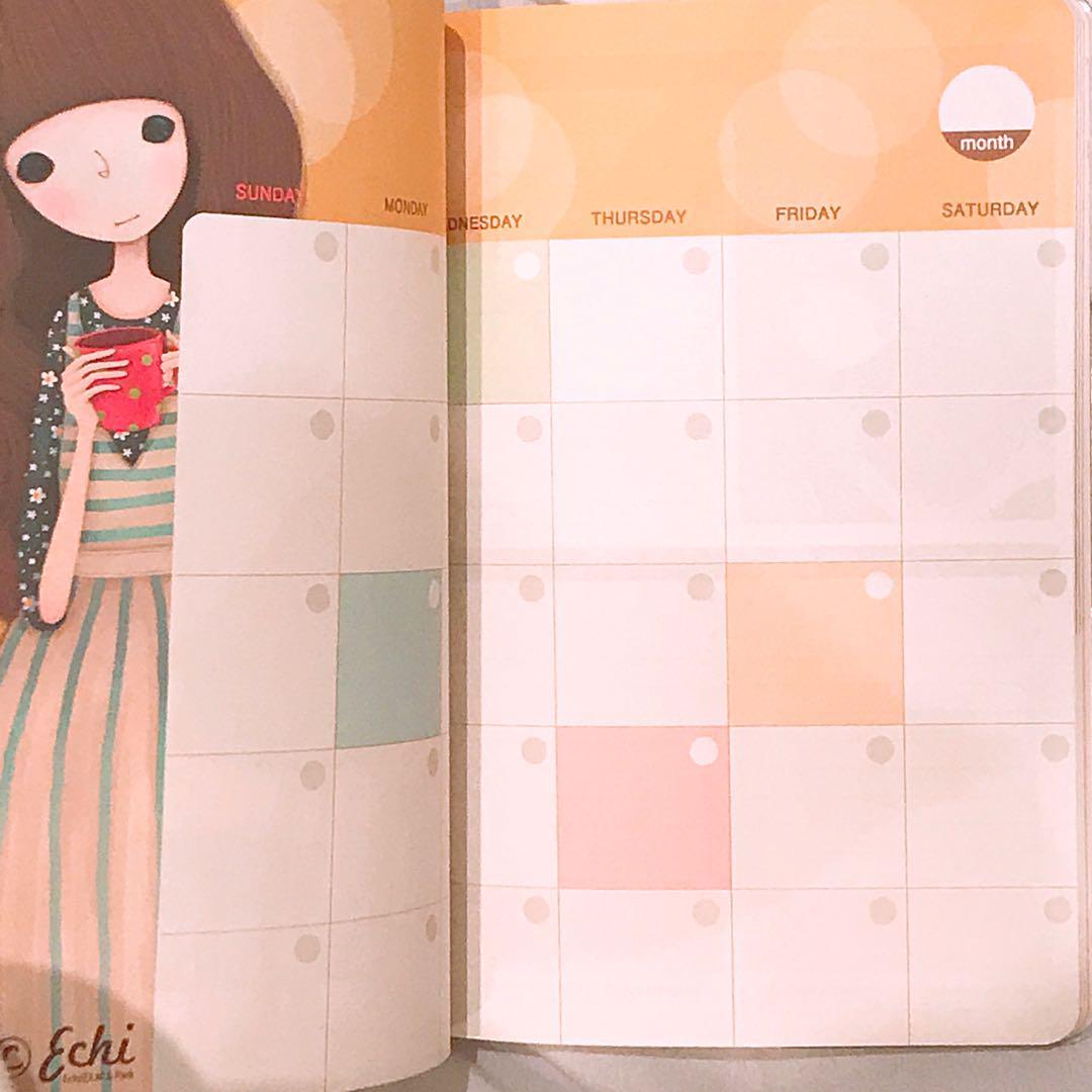 Korean study planner notebook