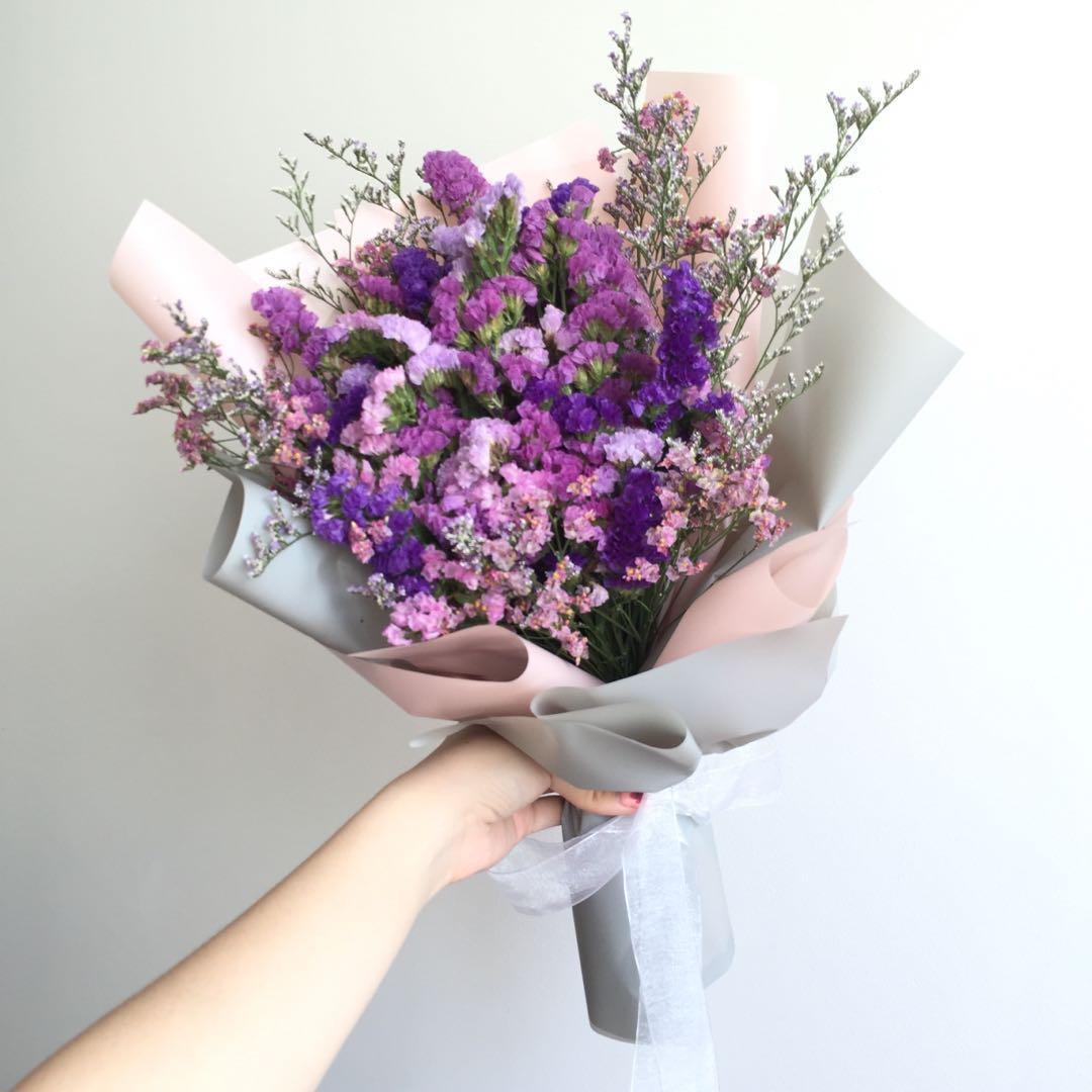 Korean Style Dried Flower Bouquet Gardening Flowers Bouquets On