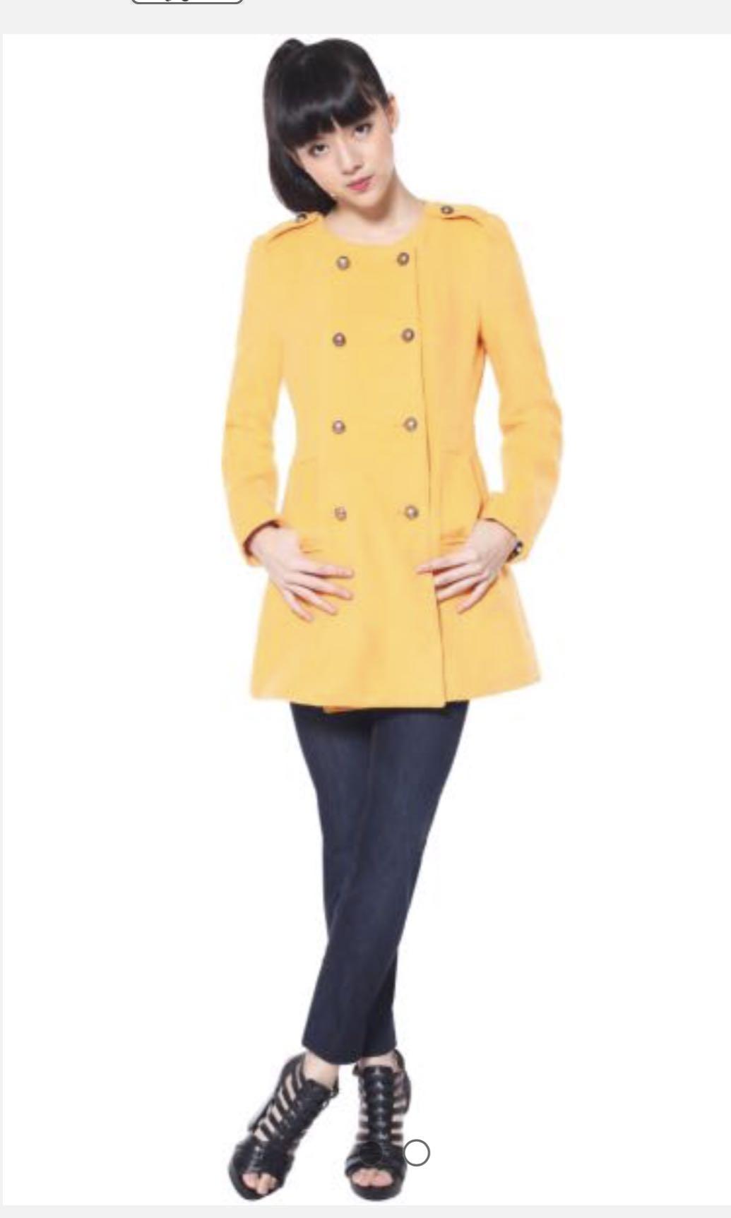 4818fd4fd Love Bonito military trench coat in mustard color