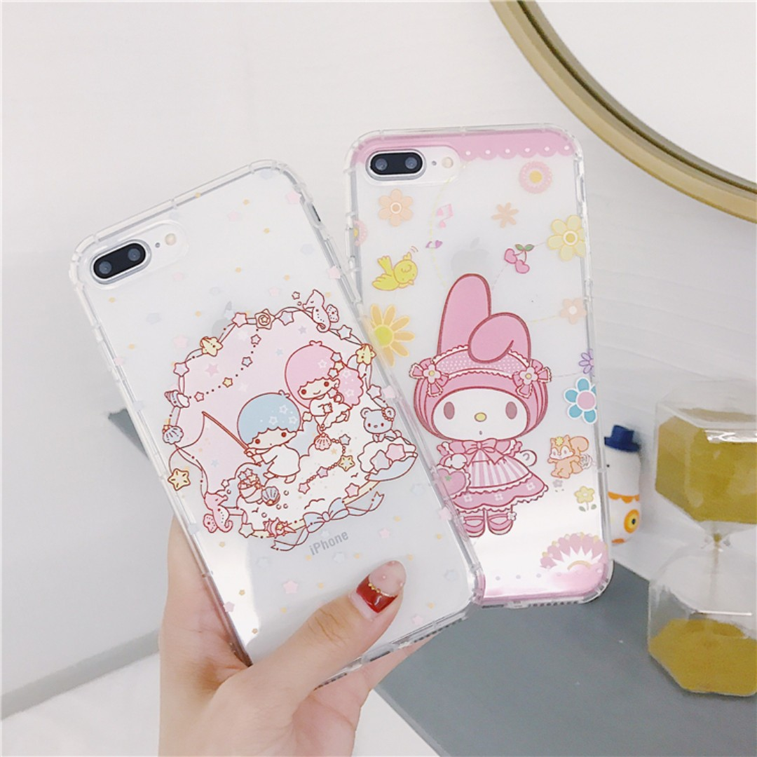7b9291f57 My Melody x Little Twin Starts Pastel Clear Based Silicon Silicone ...