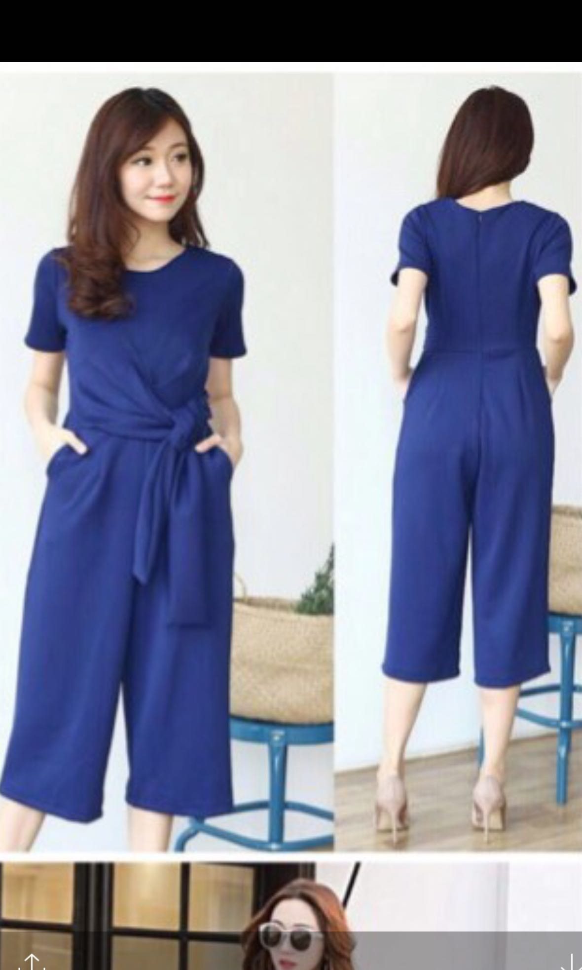 c1db223bab Navy blue jumpsuit, Women's Fashion, Clothes, Rompers & Jumpsuits on ...