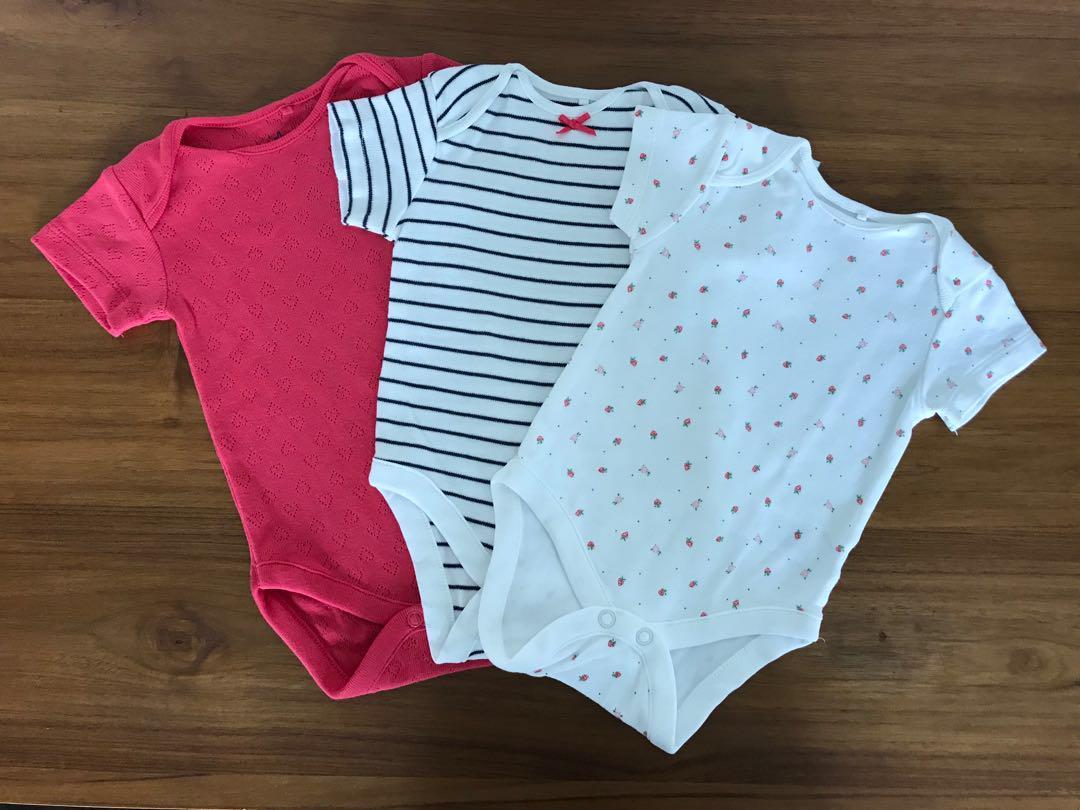 Next Uk 6 pack of Stripes/ Red/ White Short Sleeve Bodysuits