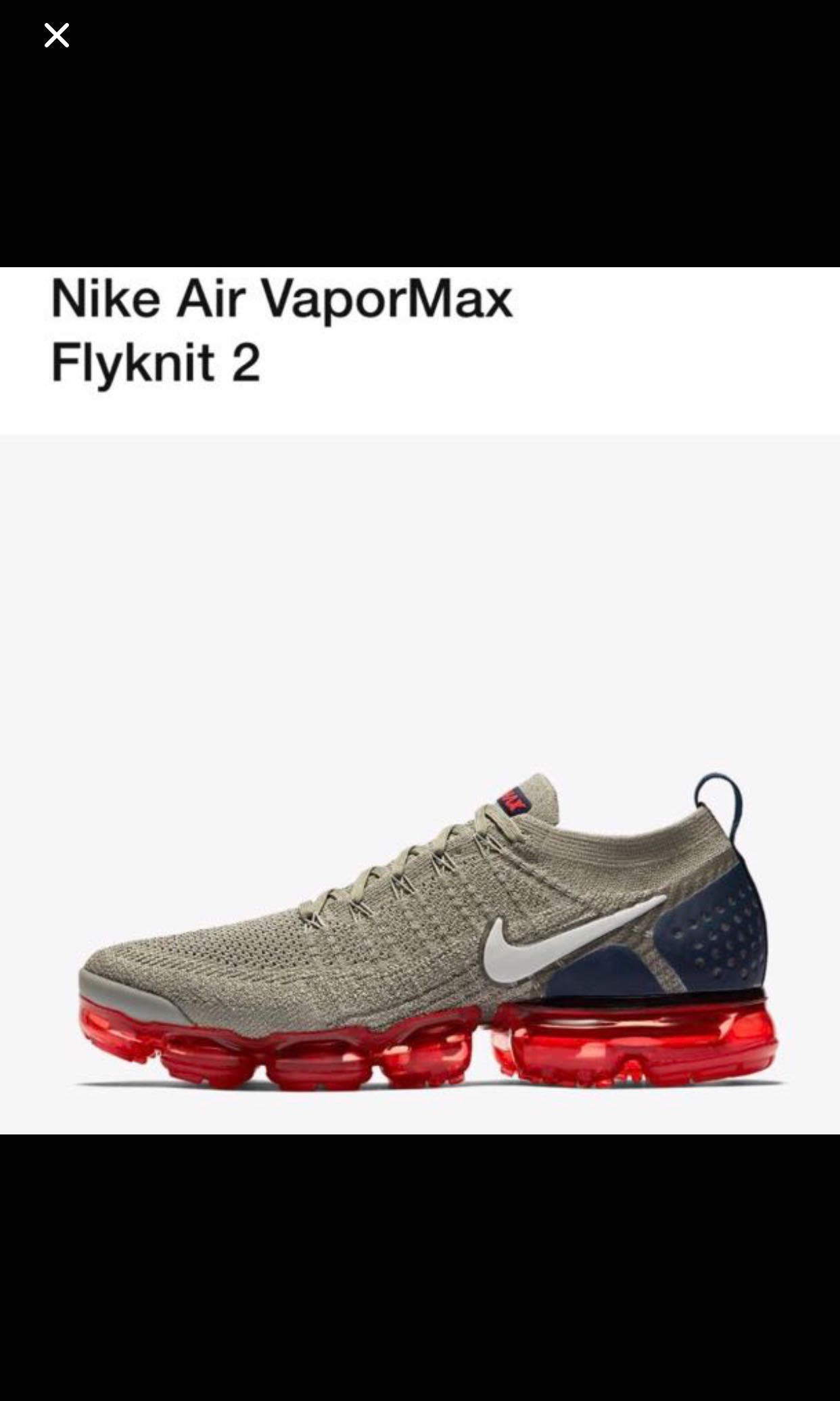 purchase cheap 40839 97157 Nike Vapormax 2, size US10, Mens Fashion, Footwear, Sneakers on Carousell