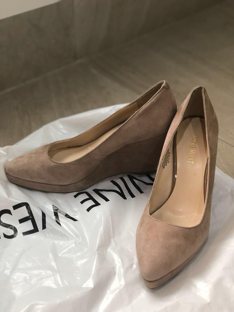8f76a13d87b2 Nine West Nude Wedge Heels