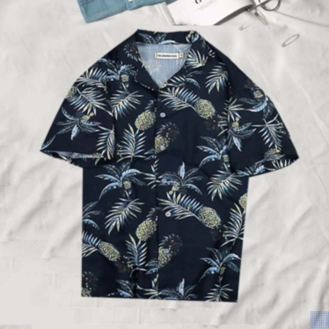 a6949c3a75178d Pineapple Tropical Vintage Button-up shirt