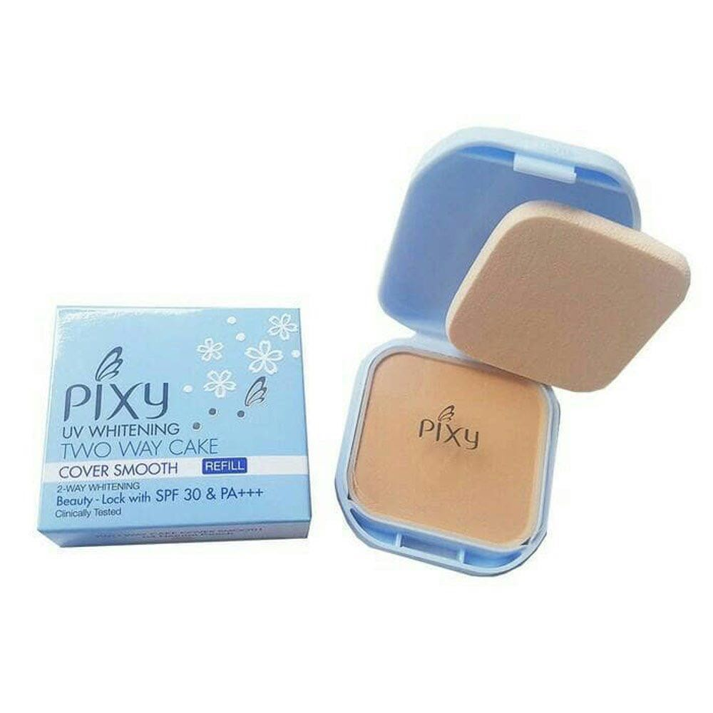 Pixy Uv Whitening Twc Cover Smooth 02 Pink Cream Daftar Harga Compact Powder Two Way Cake Refill Spf 30 Pa