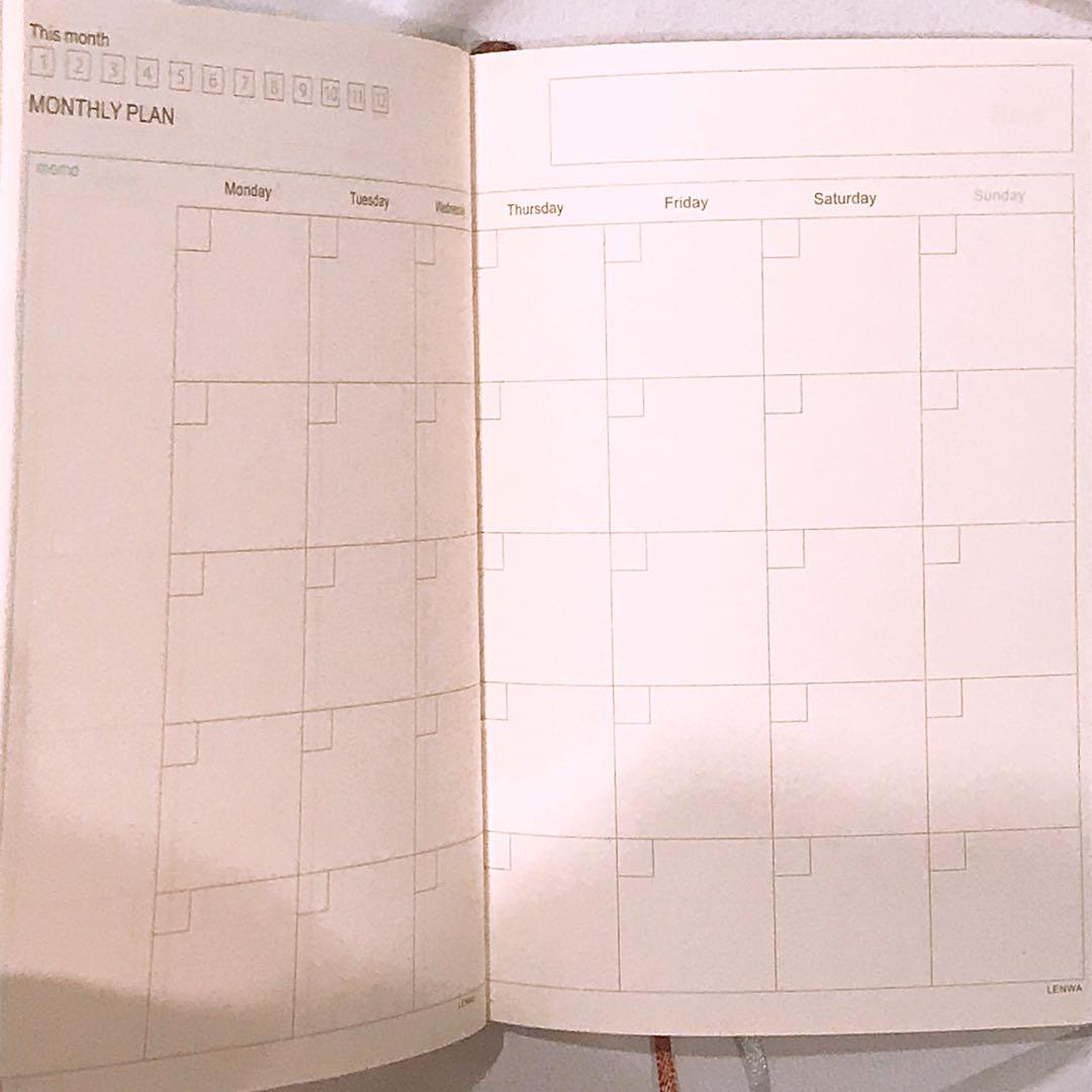 Planner schedule notebook