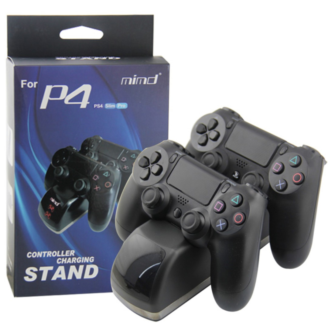 Playstation 4 Ps4 Mimd Controller Charging Stand For Slim Pro Dobe Dual Dock New Video Gaming Accessories On Carousell