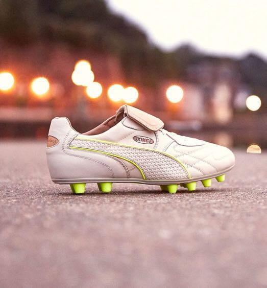 b8f7ef49c PUMA King Top M.I.I Nat. FG white-safety yellow LIMITED EDITION ...