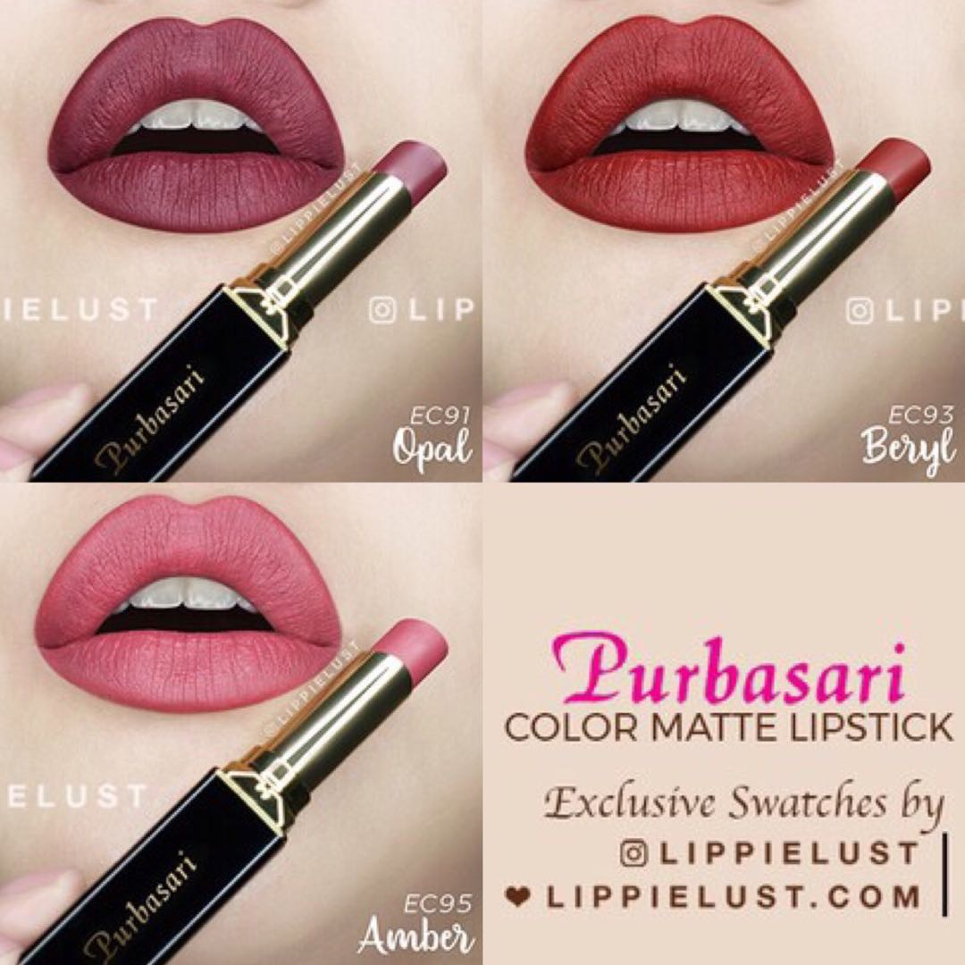 Review Lipstik Purbasari No 89 Dan 95 Color Matte Spec Daftar Harga Terbaru Indonesia
