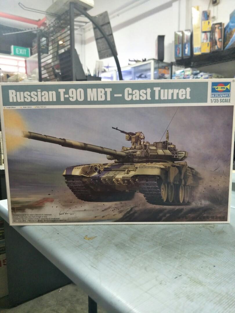 Sale! 1/35 Russian T-90 MBT Cast Turret Model Kit, Toys