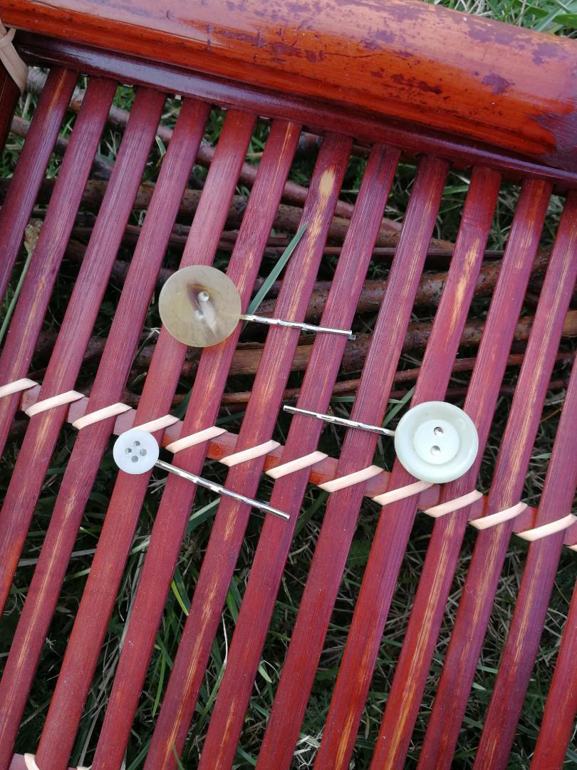 Set of Three Vintage Button Hair Pins
