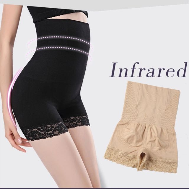 e6e40e3e6 Black Skin Lady s High Waist Body Shaper Brief Underwear Tummy ...