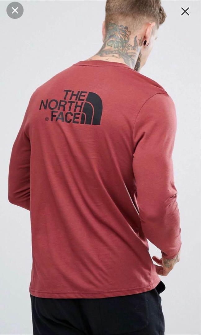 0cf47470e The North Face Long Sleeve Tee (Burgundy)