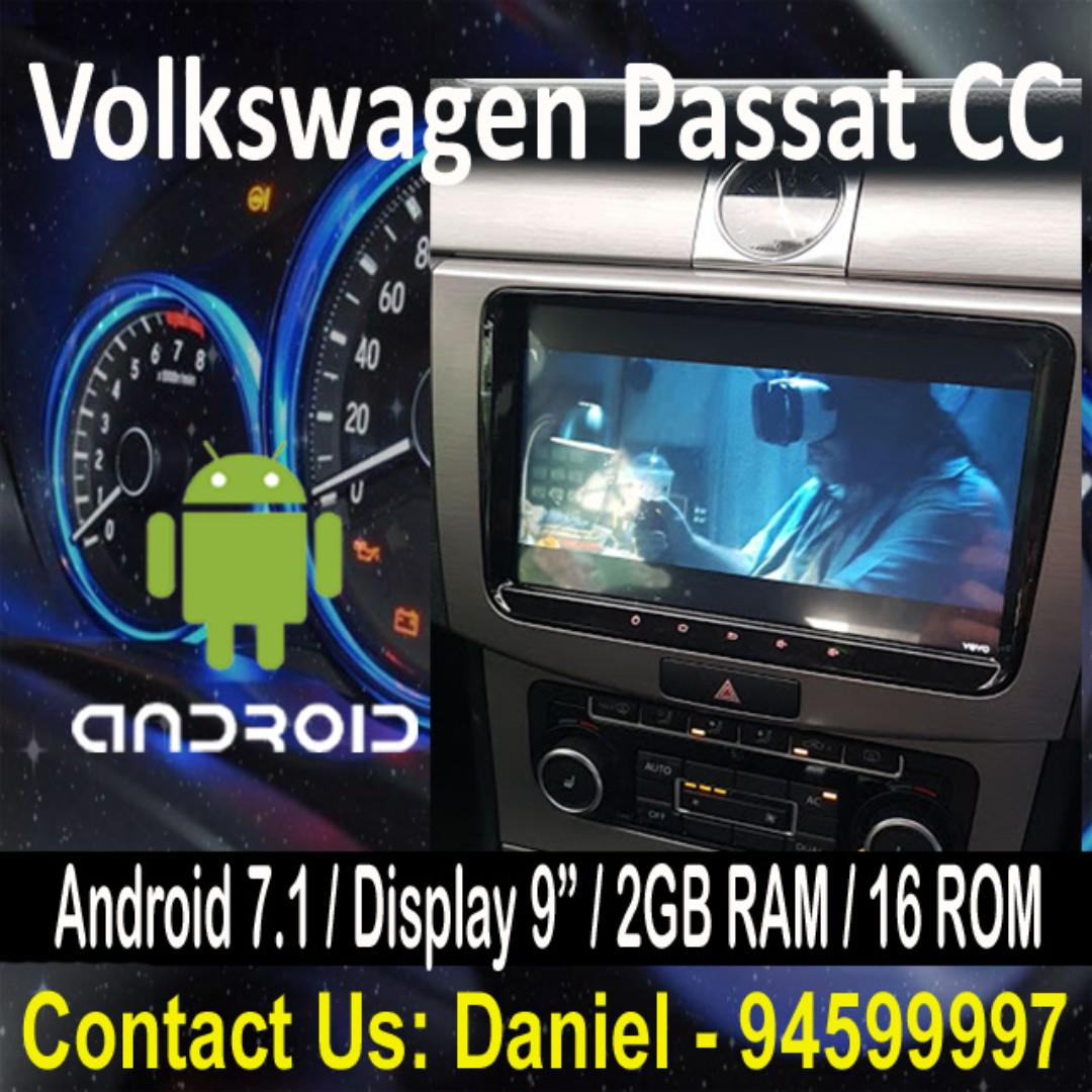 Volkswagen Passat CC Android 7.1 OS Car Stereo 9'' Display