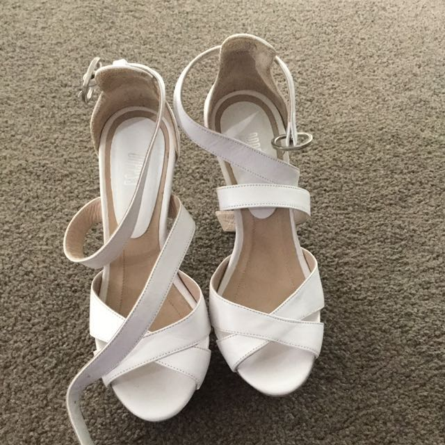 White And Light Brown Shoes